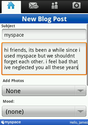 Screenshot 1 of MySpace Mobile 1.8.3