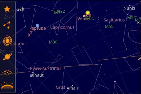 Google Sky Map - Review on google android, gmail android, skype android, chrome android, game android, evernote android,