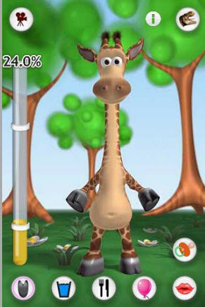 Talking gina the giraffe gameplay android youtube.